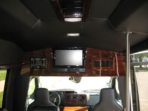 Executive Van TV and DVD player